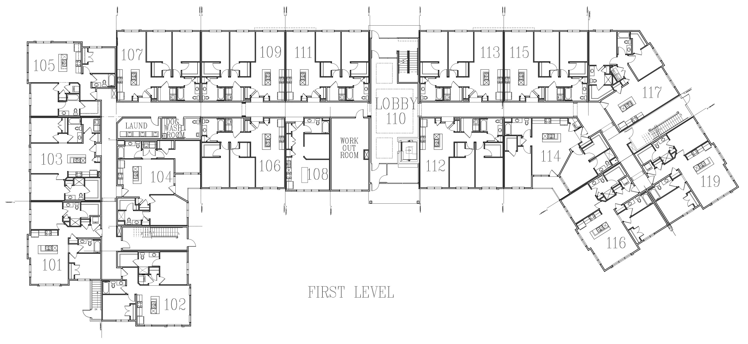 Image of building layout for first floor.