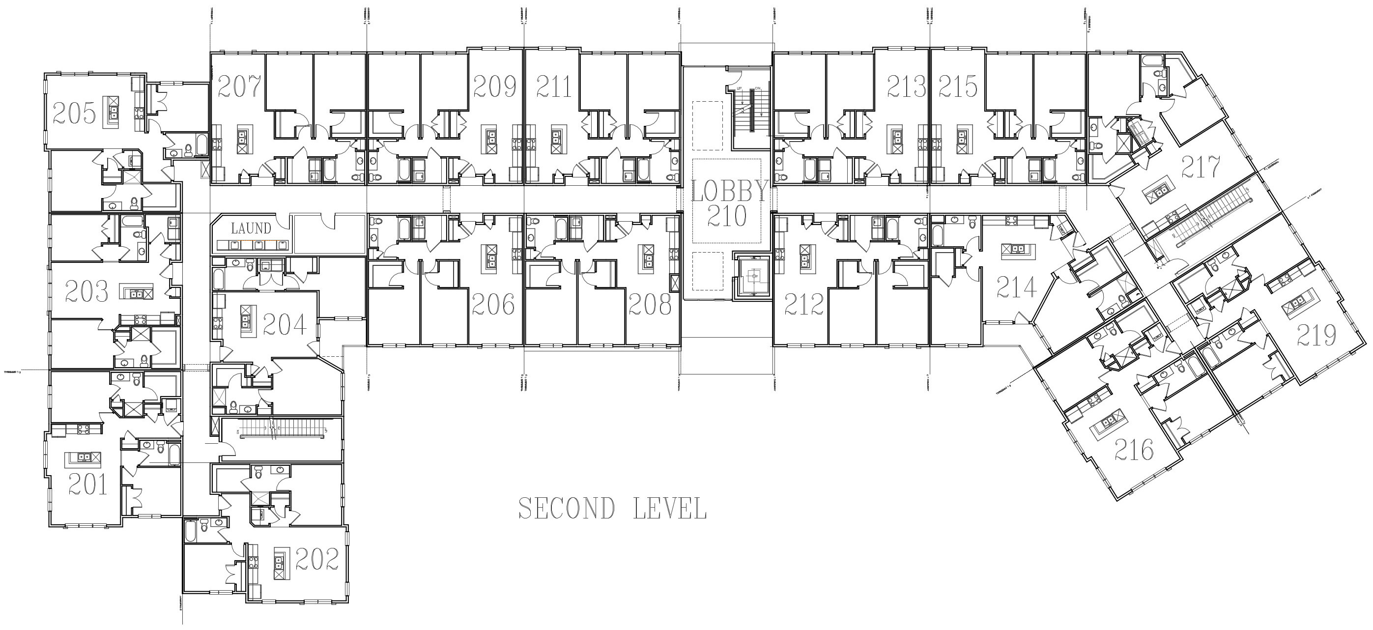 Image of building layout for second floor.