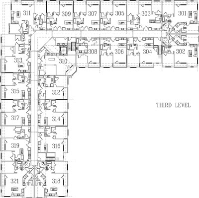 Image of building layout for third floor.