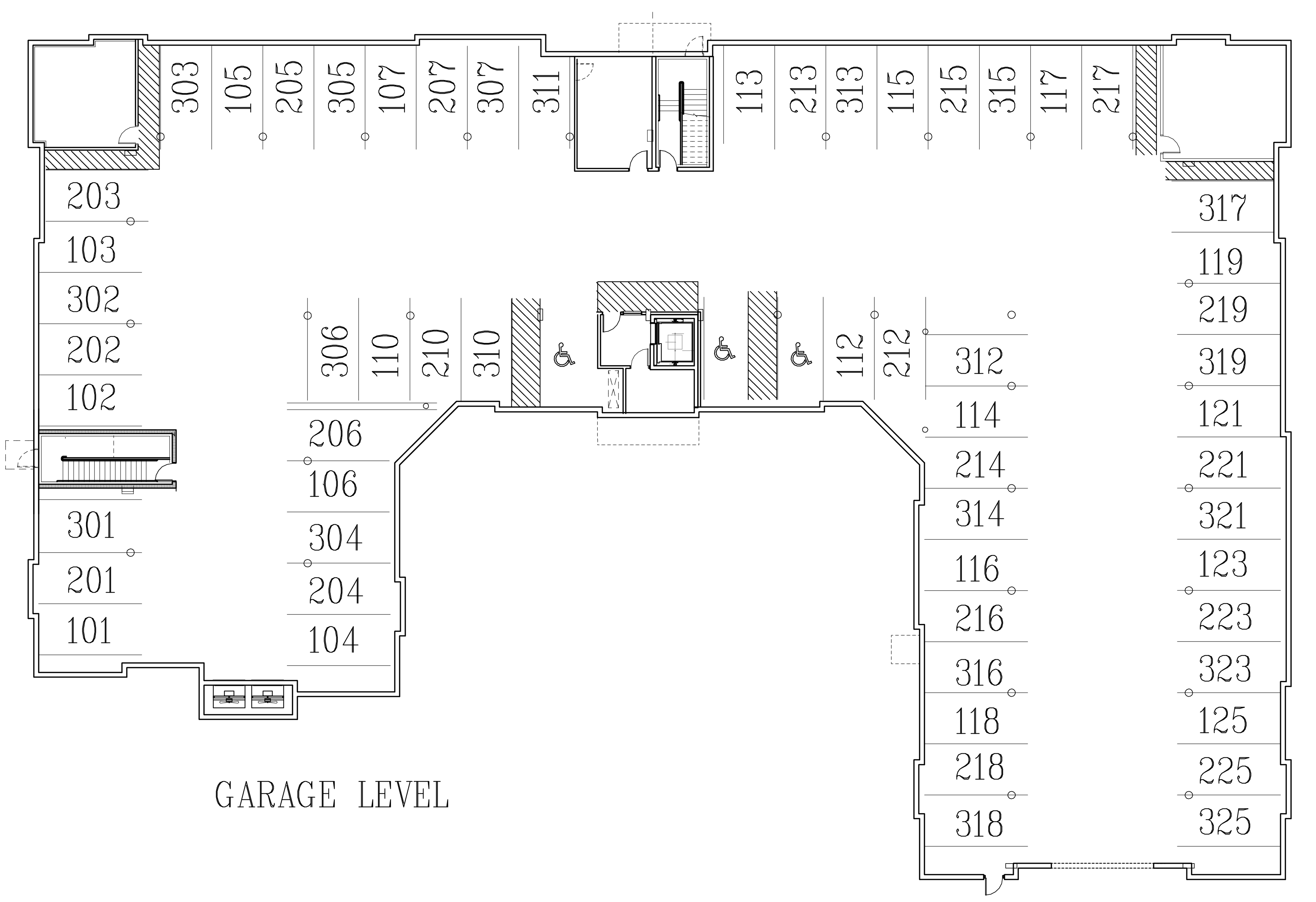 Image of building layout for garage floor.